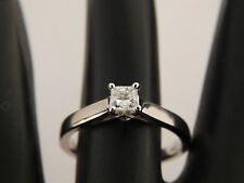 Ring 14k White Gold F/Si1 Quality .37 tcw Princess Solitaire Diamond Engagement