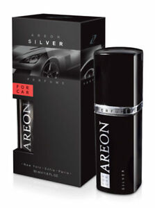 Areon Luxury Car Perfume Long Lasting Air Freshener TOP QUALITY- SILVER 50ml NEW