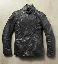 Carol Christian Poell Double Fencing Jacket Authentic Leather Jacket Very Rare