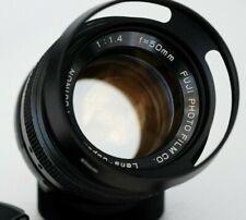 FUJI PHOTO FILM EBC FUJINON 50mm f1.4 - excellent M42 mount lens made in Japan