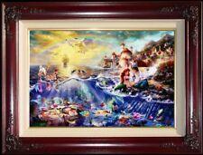 Thomas Kinkade Disney The Little Mermaid 24x36 G/P Framed Limited Canvas