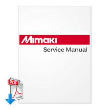 MIMAKI JV4 Plotter English Service Manual + Parts Manual  --Email PDF File