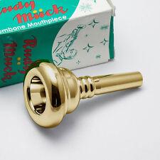 Genuine Rudy Muck 21 24K Gold Small Shank Trombone Mouthpiece NEW