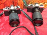 2 Minolta Cameras for Display Only as They May Not Work - Sold As Is  LOT #74