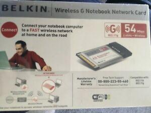 Belkin 802.11g wireless g notebook card