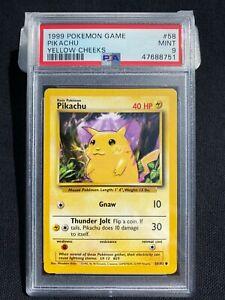 Pokemon 1999 Base Set Unlimited Pikachu Yellow Cheeks #58 PSA 9 MINT Awesome !