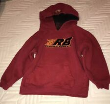 Rb Rudeboyz Red Hoodie with Logos. Hood is Lined. Size Small.