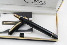 Omas Extra Black Milord Paragon Fountain Pen - Medium 18k Gold Nib