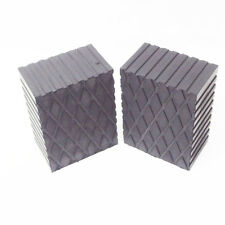 """3"""" Tall Solid Rubber Stack Blocks for Any Auto Lift or Rolling Jack - Set of 2"""