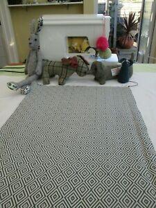 BN Fab Summer John Lewis Woven Cotton Fabric In Mara Diamond Indian Blue
