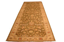 Brown 12 ft best kitchen runners Chobi Peshawar Antiqued Olive Green New