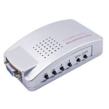 PC portátil VGA-LCD TV AV RCA S-Video caja conversor Adaptador De Señal + cable de vídeo