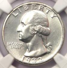 1932-S Washington Quarter 25C - NGC Uncirculated Details (UNC MS) - Rare Coin!
