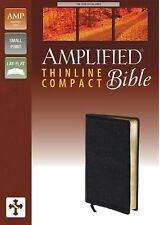 Amplified Thinline Bible Compact by Zondervan Staff (Bonded Leather) BRAND NEW!!