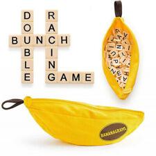 Banana Scrabble Crossword Game Portable Spelling Tile Word Party Family Game New