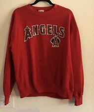 Vintage Anaheim Angels Baseball Sweater Sweat Shirt Red Size Large VTG (F)