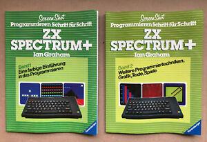 """Sinclair ZX Spectrum+ """"Programmieren Schritt für Schritt"""" - Band 1 und Band 2"""