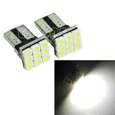 2 x T10 194 168 W5W 3528 SMD 9 LED Wedge White Car Turn Signals Light Lamp Bulb