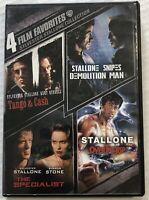 4 Film Favorites Sylvester Stallone (DVD, 2007, 2 Discs, OOP) Cad
