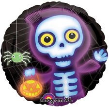 "HALLOWEEN PARTY SUPPLIES BALLOON 18"" BOO CREW SKELETON HALLOWEEN ANAGRAM BALLOON"