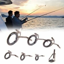 5-18mm Dia Fishing Pole Line Eyes Fish Tip Fishing Rod Guides Repair Kits