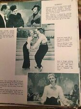 F5-1  Ephemera film 1935 1 page article film roberta fred astaire