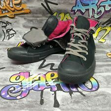 converse womens trainers size 6 black high tops shoes eu 39 pink two layers