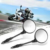 2x Universal Motorcycle Rearview Mirrors Folding 8/10mm Thread Scooters ATV