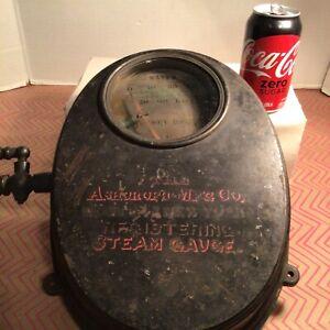 Antique Steam Gauge Ashcroft Steam Gauge Registering Steampunk Vintage