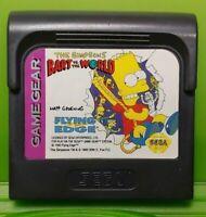 Bart vs the World -  Sega Game Gear Portable Cartridge Rare & Tested / Working