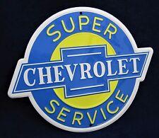 CHEVROLET - *US MADE* Die-Cut Embossed Metal Tin Sign - Man Cave Garage Shop Bar