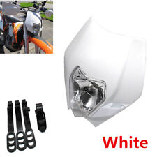 1x 12V 35W Plastic Motorcycle Off Road Vehicle Front Headlight Ghost Face Lamp