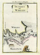 Map Russian Arctic Detroit Waigats Yugorsky Strait Vaygach Island by Mallet 1683