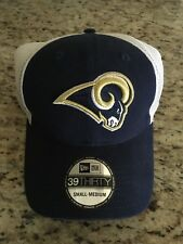 St Louis Rams NFL New Era 39THIRTY Fitted Cap Lid Hat NWT NEW Small - Medium