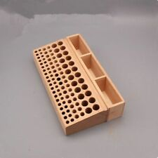 98 Holes Leather Craft Tool Holder Box Wood Rack Wooden Punch Handwork Tool