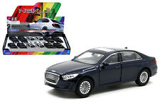 Hyundai GENESIS G90 1:34-1:39 Die Cast Car Silver/Black/Blue Collection New Gift