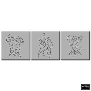 Performing Dance Line Art Ballroom BOX FRAMED CANVAS ART Picture HDR 280gsm