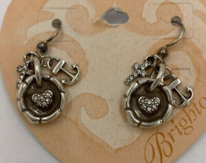 Brighton FAITH HOPE CHARITY French Wire Earrings JE9562  NWT