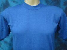 NOS vintage 80s BLANK BLUE SCREEN STARS BEST T-Shirt SMALL/MEDIUM thin DEADSTOCK