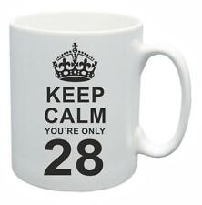 28th Novelty Birthday Gift Present Tea Mug Keep Calm Your Only 28 Coffee Cup