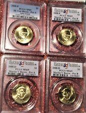 2008-P&D Martin Van Buren PCGS MS69 Satin 4-Coin Set Pos.A&B