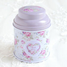 New Hot Floral Flower Metal Tin Jar Candy Coffee Tea Sealed Can Storage Box