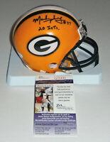 PACKERS Mark Murphy signed mini helmet w/ 20 Int's JSA COA AUTO Autographed GB