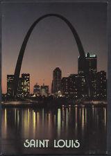 America Postcard - Night Time, The St Louis Skyline  B2576