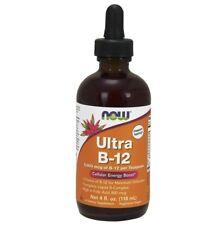 Now Foods ULTRA B-12,  5000 mcg - 4 fl oz (118 ml) ENERGY, Folic Acid (800mcg)