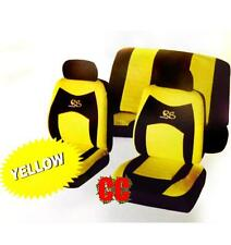 Car 6pc Seat Cover Yellow / Black Mesh Universal Racing Style cover Set protect