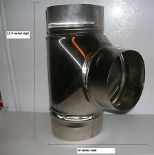 6 inch stove pipe Stainless Steel Clean Out Tee -- Made in Maine USA!!