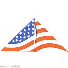 "54"" STARS STRIPES FLAG DELTA NYLON WIND FLYING KITE W/ FREE LINE & WINDER/HANDLE"
