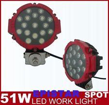 2PCS 51W Led Work Light Bar Spot Beam Off Road Fog Lamp SUV Jeep 4x4 4WD TRUCK