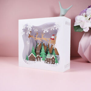 3D Christmas Card Table Decoration Pop Up Box Card with Envelope Xmas card